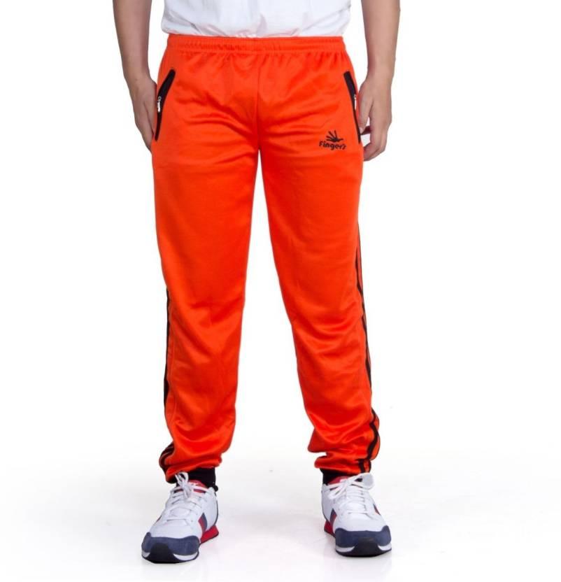 5b887920648 Finger s Striped Men s Orange Track Pants - Buy Orange Finger s Striped  Men s Orange Track Pants Online at Best Prices in India