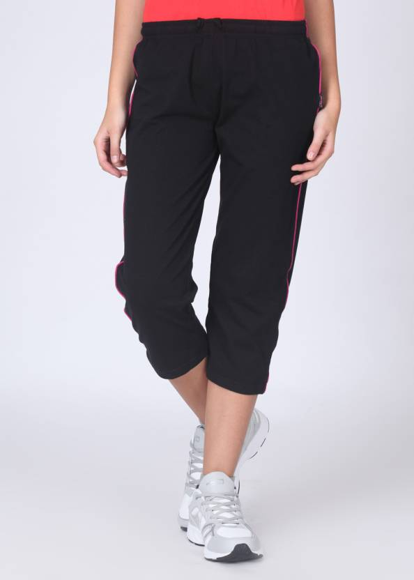 Hanes Stretch Yoga WPF71 Solid Women's Black Track Pants