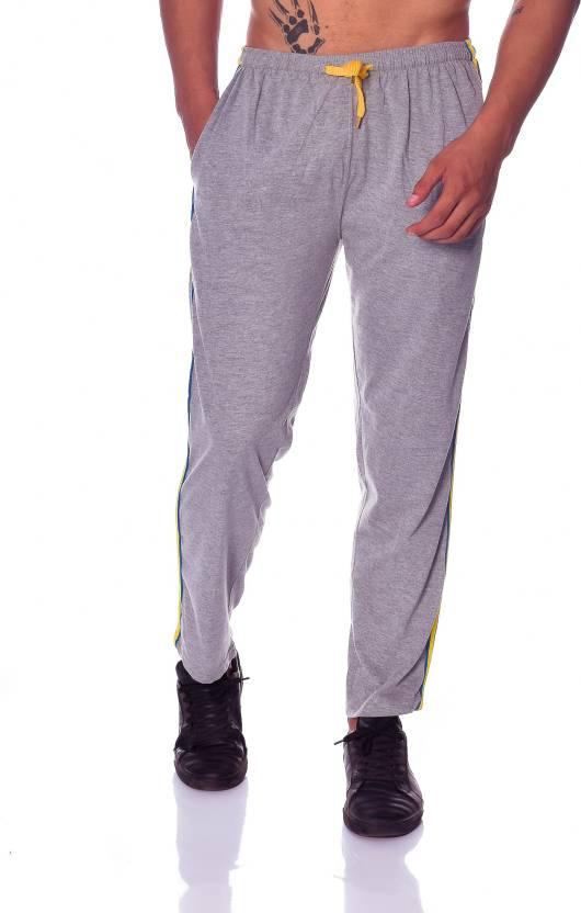 Shaun Solid Mens Grey Track Pants