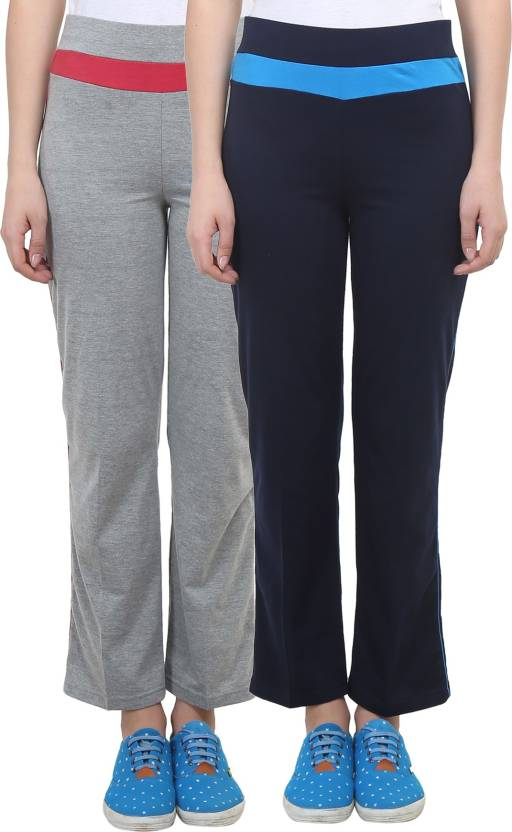 dd5166b3 Vimal Jonney Solid Women's Blue, Grey Track Pants - Buy Navy Blue, Grey  Melange Vimal Jonney Solid Women's Blue, Grey Track Pants Online at Best  Prices in ...