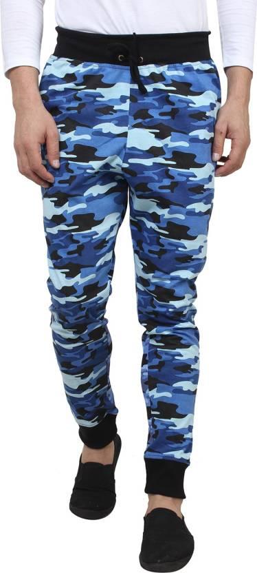 HUSTLE Solid Men s Blue Track Pants - Buy Blue Camouflage HUSTLE ... 655f7c63fb5