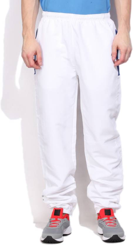 5ded5c41b298 Fila Solid Men s White Track Pants - Buy WHT AQU STA Fila Solid Men s White  Track Pants Online at Best Prices in India