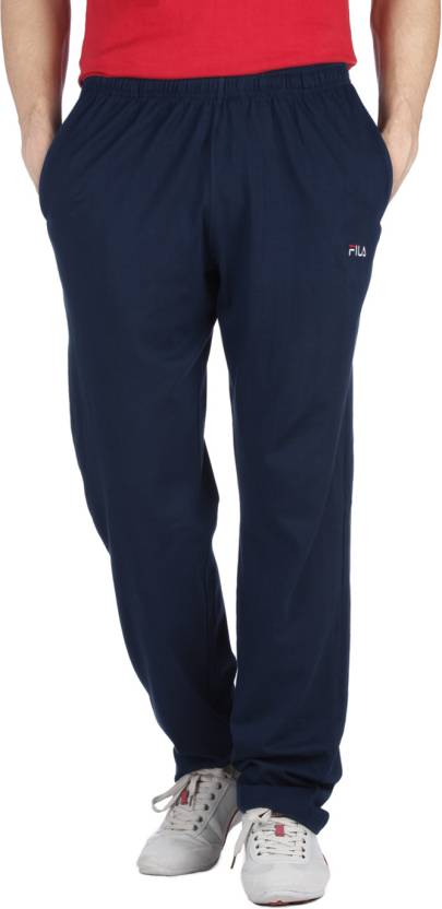 51a639b22b51 Fila Solid Men s Blue Track Pants - Buy B