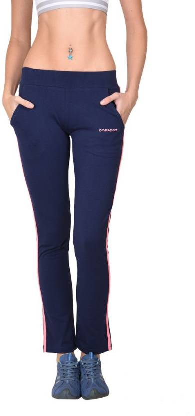 6812a148942 Onesport Solid Women s Dark Blue Track Pants - Buy Navy Onesport Solid  Women s Dark Blue Track Pants Online at Best Prices in India