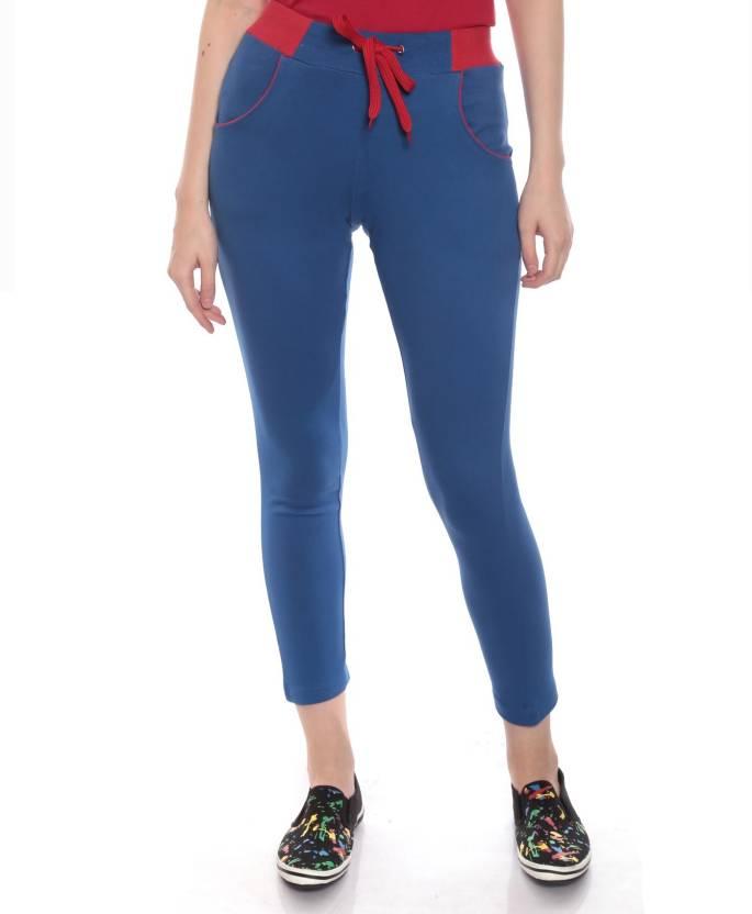 Goldstroms Solid Women's Blue Track Pants - Buy Royal Blue