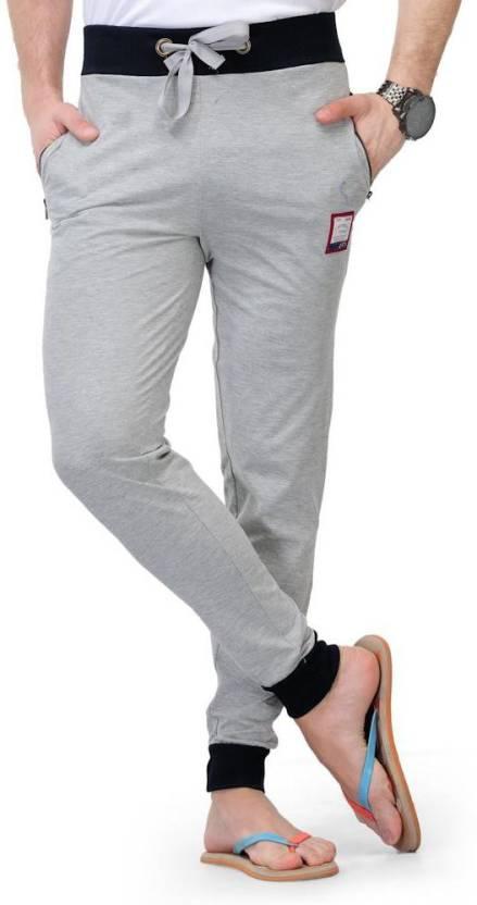Teesort Solid Mens Grey Track Pants