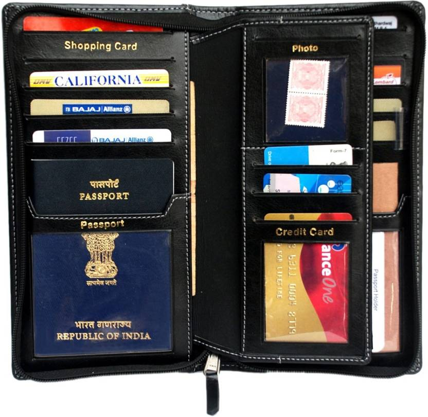 4582fd0a7 Sukeshcraft Definition-BLK Passport cover for 2 Passports Black ...