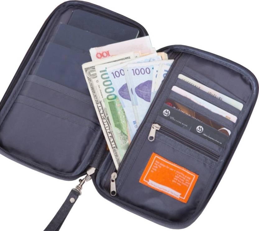 89ebdc0d057 Taslar 3 passport Holder Grey Grey - Price in India