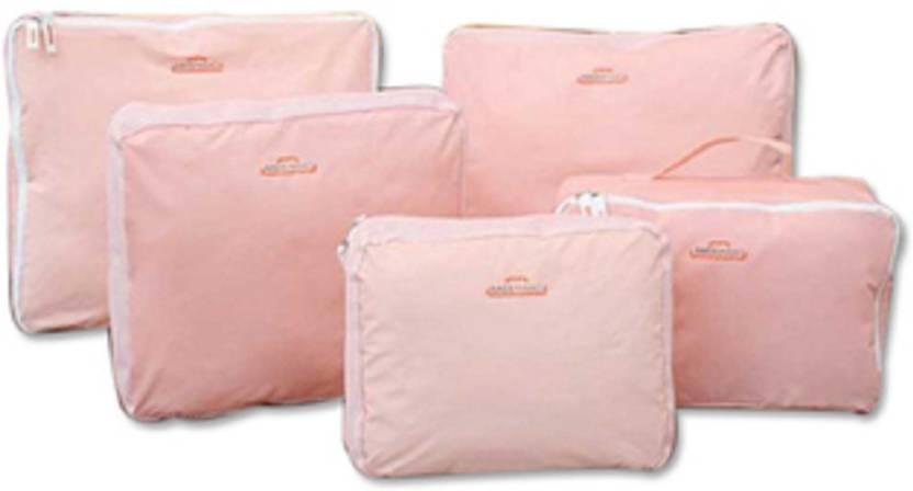 Magnusdeal 5 in 1 Travel Organizer (set of 5): Plain (Pink)