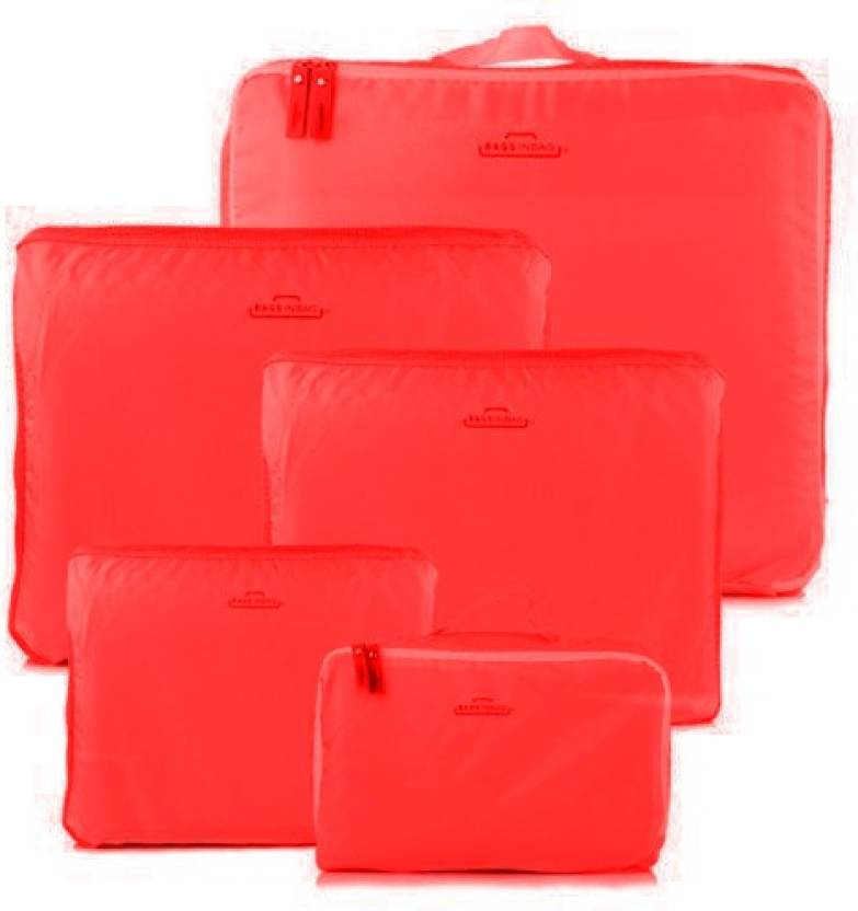 MSE 5 in 1 Travel Luggage Organizer-W9513 (Red)