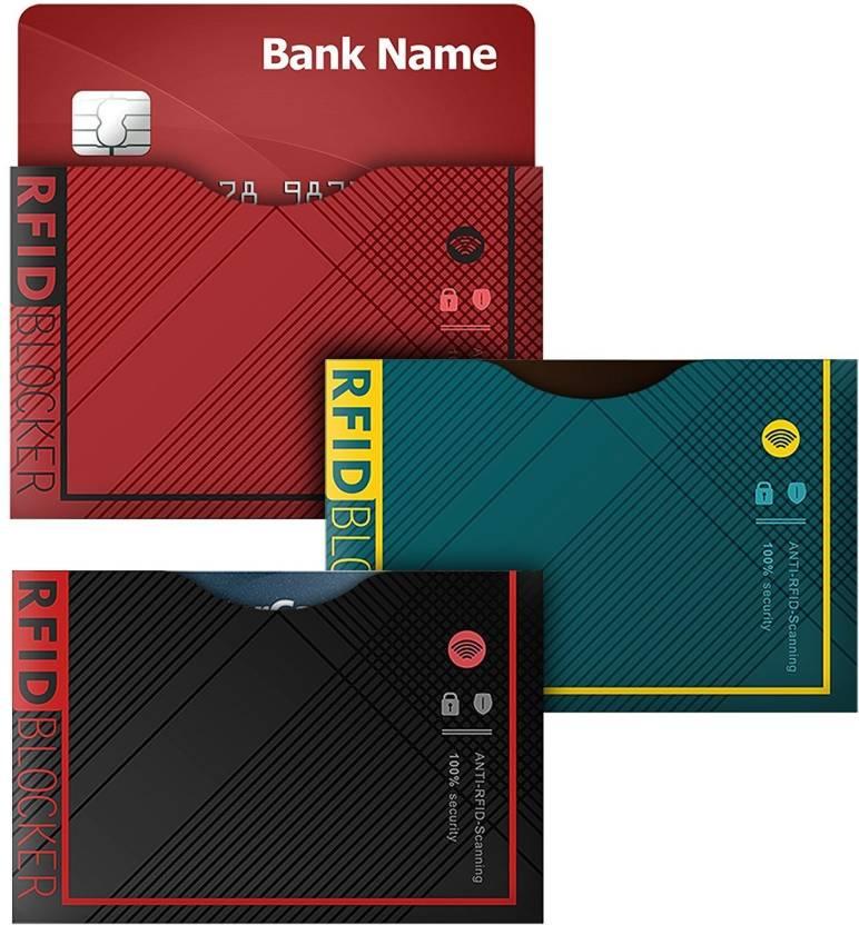 4d01bbdff650 ELV RFID Blocking Sleeves (12 Credit Card Holders & 3 Passport ...