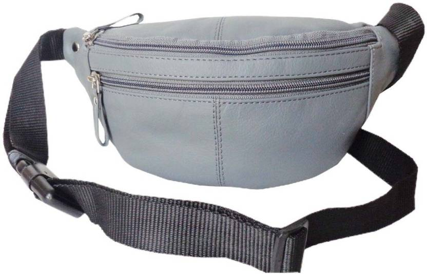Style 98 Genuine Leather Travel Money Pouch for Men and Women Waist Bag  (Grey) f64ecc342bdca