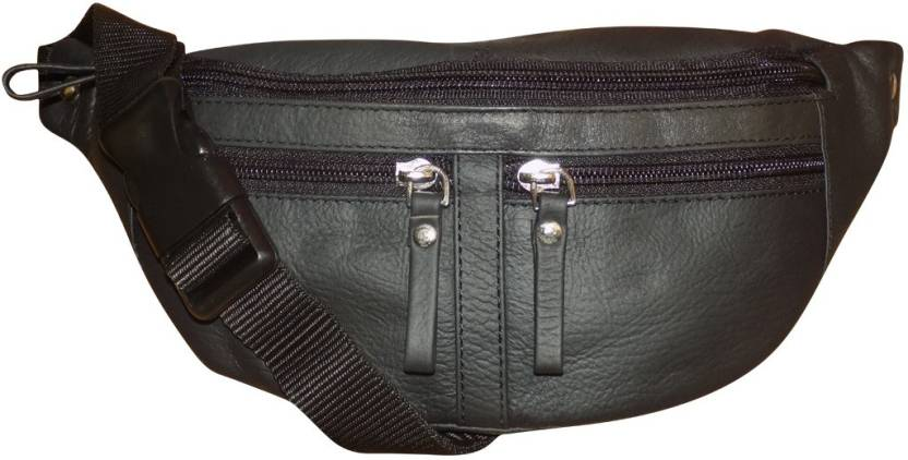 Style 98 Genuine Leather Travel Money Pouch for Men and Women Waist Bag  (Black) 788a65e6110a9