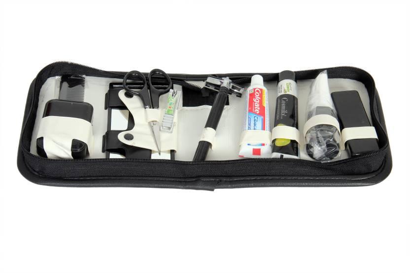 Toprun Thunder Classic Fashion Travel Shaving Kit   Bag Black, Grey