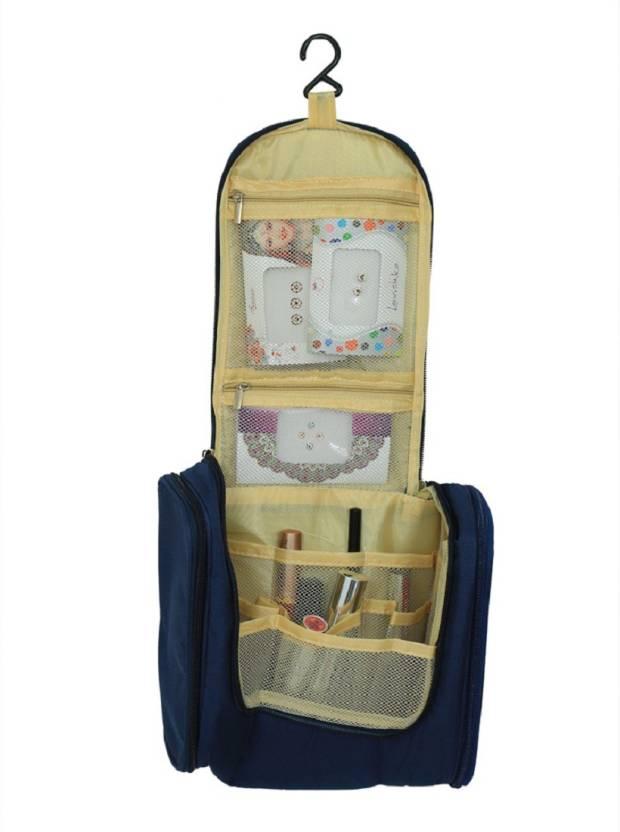 b7161cd694 Kuber Industries Waterproof Travel Bag Beauty Make Up Toiletry Wash Bag  Zipper Cosmetic Case Organiser Party