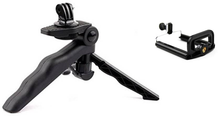 Smiledrive Mini Foldable Gopro Handy- Works With Gopro, Tripod Kit  (Black, Supports Up to 1000 g)