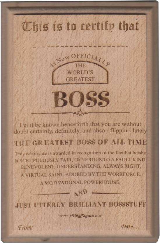 atpata funky world s best boss certificate award trophy price in