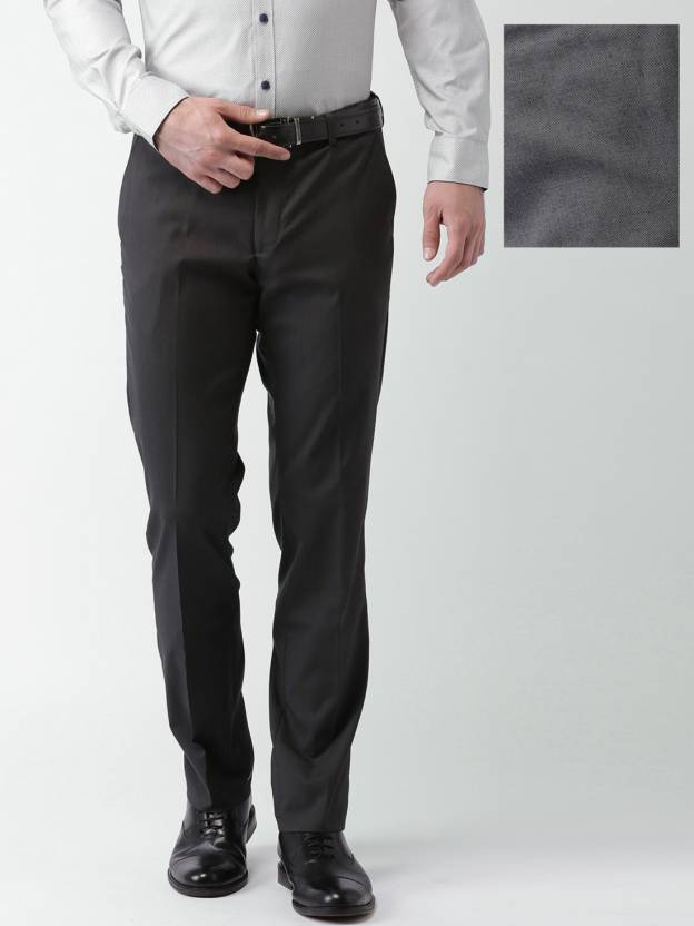 Invictus Slim Fit Mens Grey Trousers