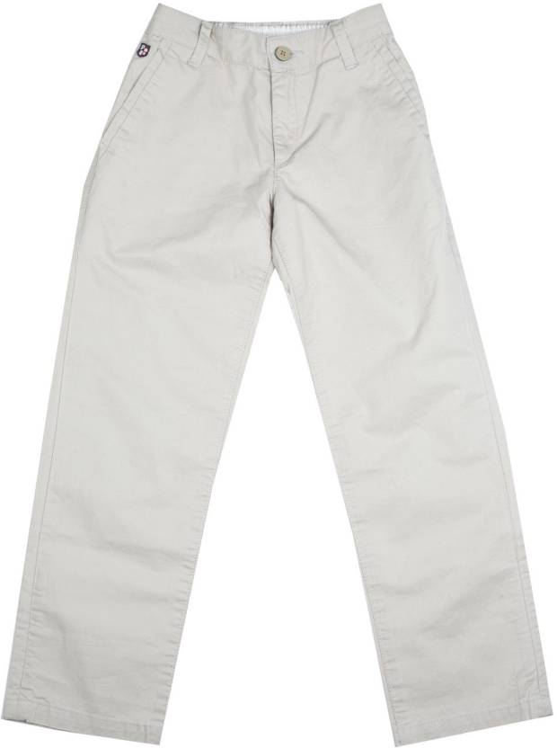 dd8c028a4c US Polo Kids Slim Fit Boys White Trousers - Buy BEIGE US Polo Kids Slim Fit  Boys White Trousers Online at Best Prices in India | Flipkart.com