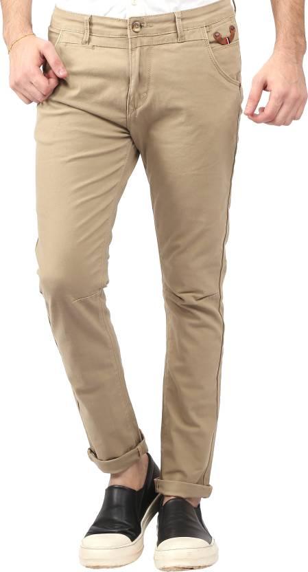 658eb45a Nostrum Jeans Slim Fit Men's Beige Trousers - Buy Nostrum Jeans Slim Fit  Men's Beige Trousers Online at Best Prices in India | Flipkart.com