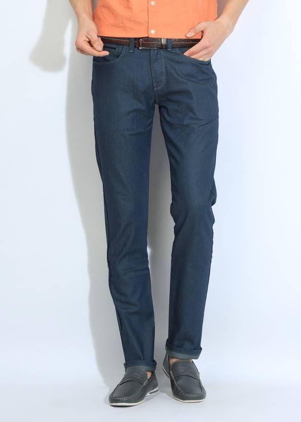 United Colors of Benetton. Slim Fit Men's Blue Trousers