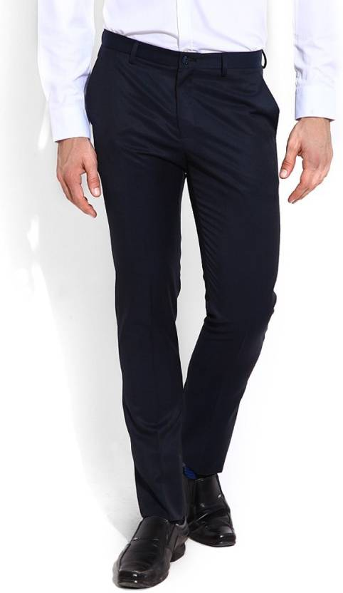 8baba6d7176 Blackberrys Slim Fit Men Black Trousers - Buy MAGNA NAVY Blackberrys Slim  Fit Men Black Trousers Online at Best Prices in India