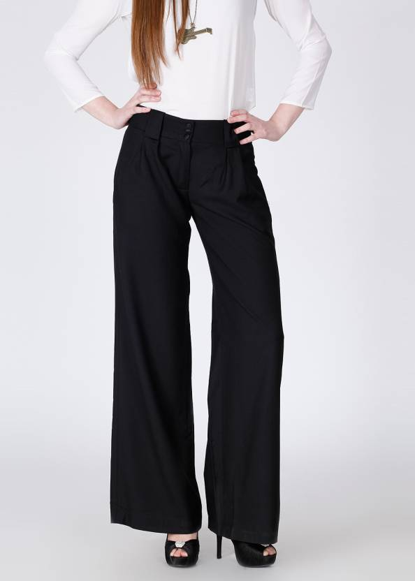 0dfca4b042e French Connection Regular Fit Women's Black Trousers - Buy Black French  Connection Regular Fit Women's Black Trousers Online at Best Prices in  India ...