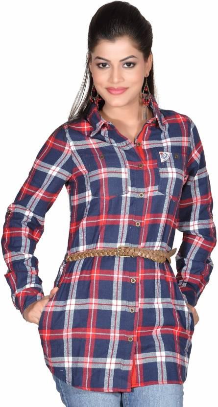 Moksh Checkered Women's Tunic