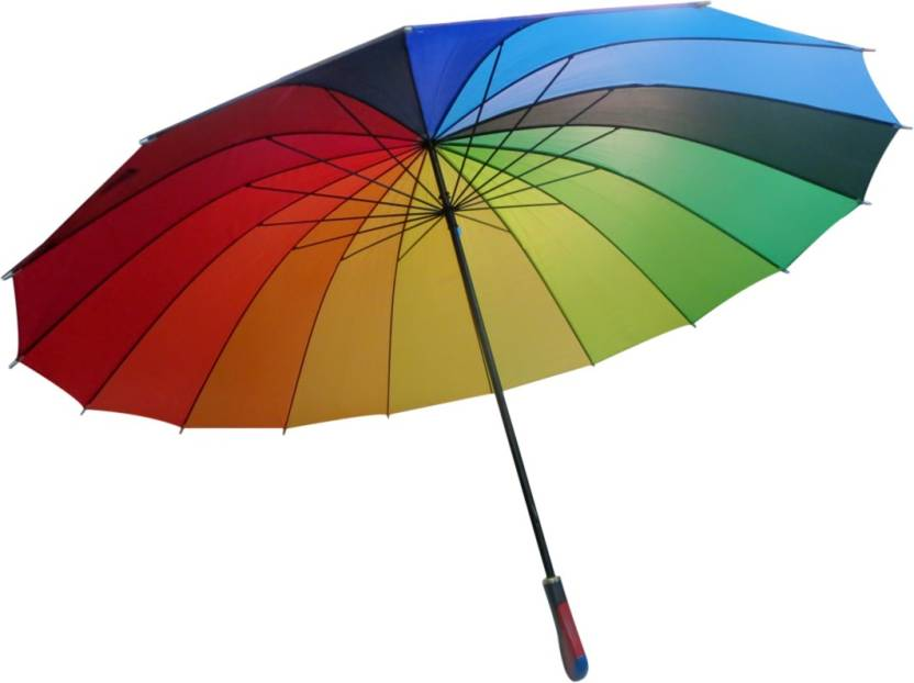 6b5bb601ee81 DCS Straight Rainbow Umbrella, Windproof,waterproof Sun-rain for ...