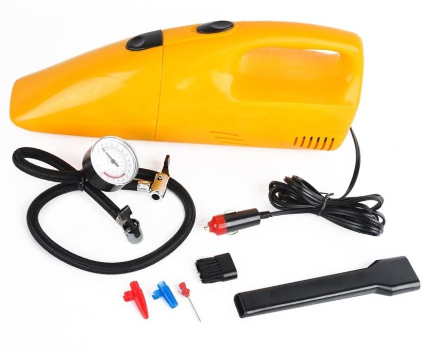 AUTOSiTY High Capacity 2 in 1 Tire Inflator 12 V, 300 PSI Air Compressor  Car Vacuum Cleaner