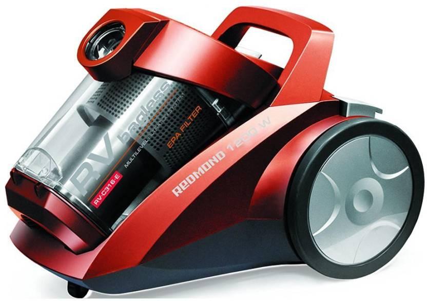 REDMOND Dual cyclonic HEPA filtration, Bagless RV-C316 red Dry Va...