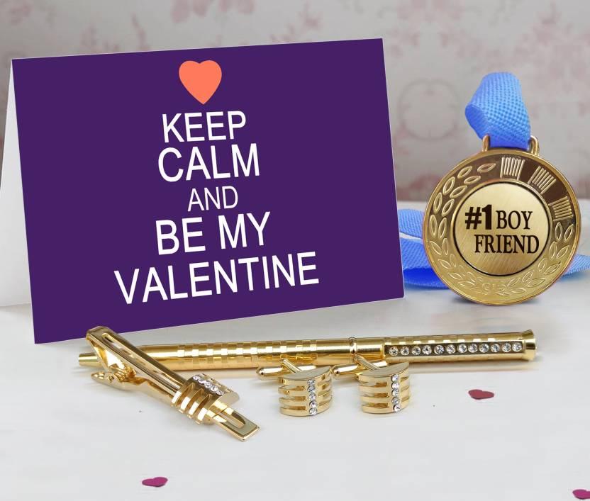3e7cd689b2841 Tiedribbons Valentine Best Gift for Boyfriend Combo Pack(Golden ...