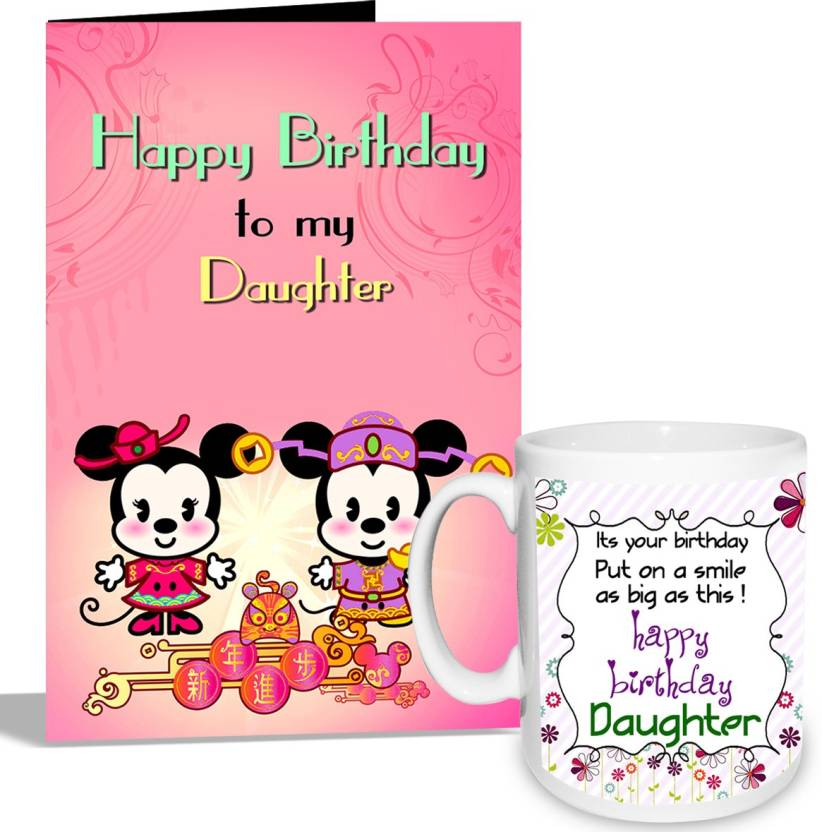 Alwaysgift Happy Birthday To My Daughter Mug With Card Hamper Greeting Gift Set