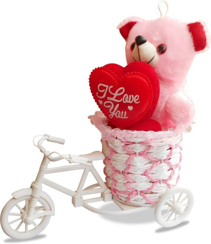 Ctw Cycle Romantic Love Gift Set Teddy Valentine Day Showpiece Gift