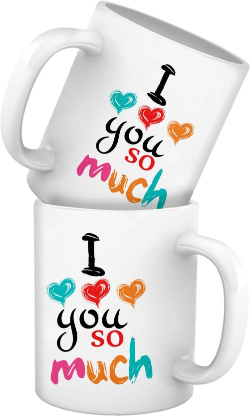 Tiedribbons I Love You Too Much Sexy Funny And Romantic Mug Set For