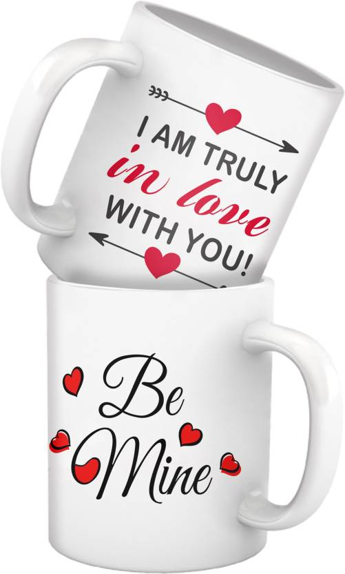 Tiedribbons Couple Mug Set For Husband And Wife Girl Friend Or Boy Fiancee Parents Anniversary