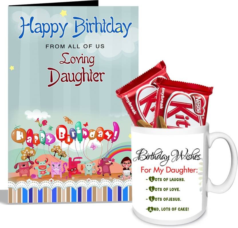 Alwaysgift Birthday Wishes For My Daughter Mug With Card Hamper Gift Set Price In India