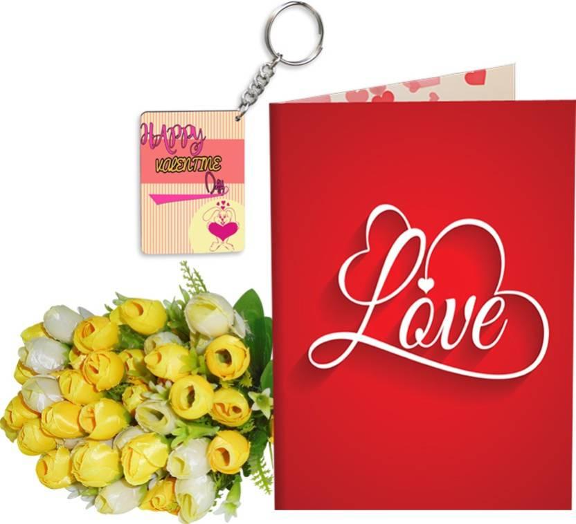 SKY TRENDS Velentinetine Day Girlfriend Boyfriend Birthday Stgs200 Greeting Card Gift Set