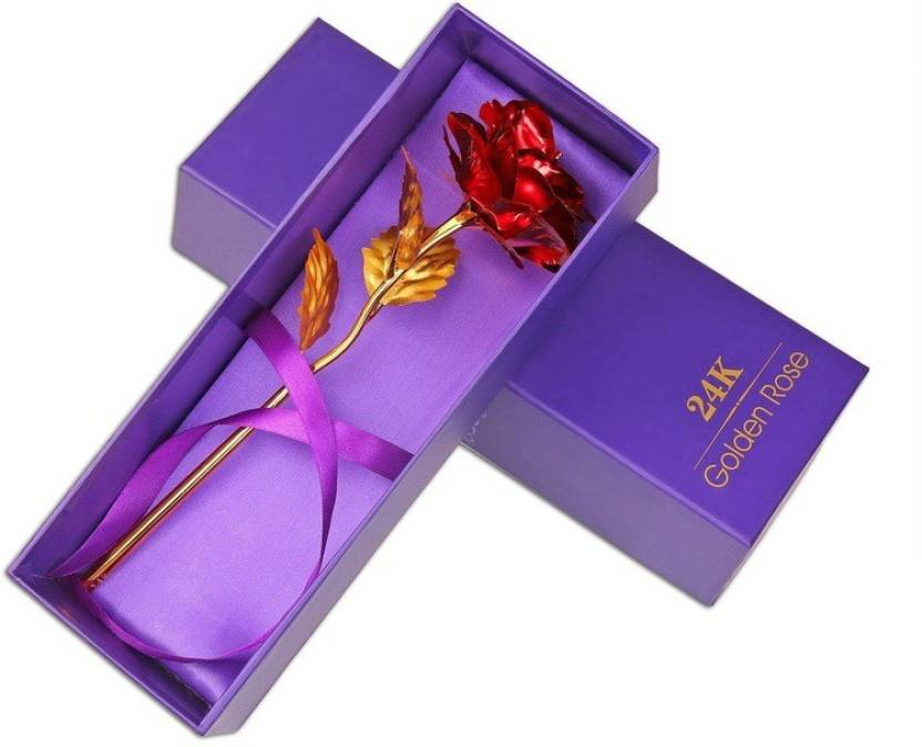414a907a2caae0 VibeX ™ 24K Gold Rose - Best For Loves Ones, Valentine's Day, Mother's Day,  Anniversary, Birthday Artificial Flower Gift Set Price in India - Buy VibeX  ...