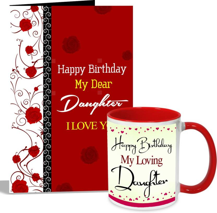 Alwaysgift Happy Birthday My Loving Daughter Mug With Card Hamper Greeting Gift Set Price In India