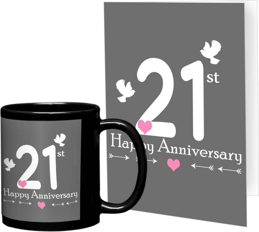 21st Wedding Anniversary.Tiedribbons 21st Wedding Anniversary Best Mug Gift Set Price In
