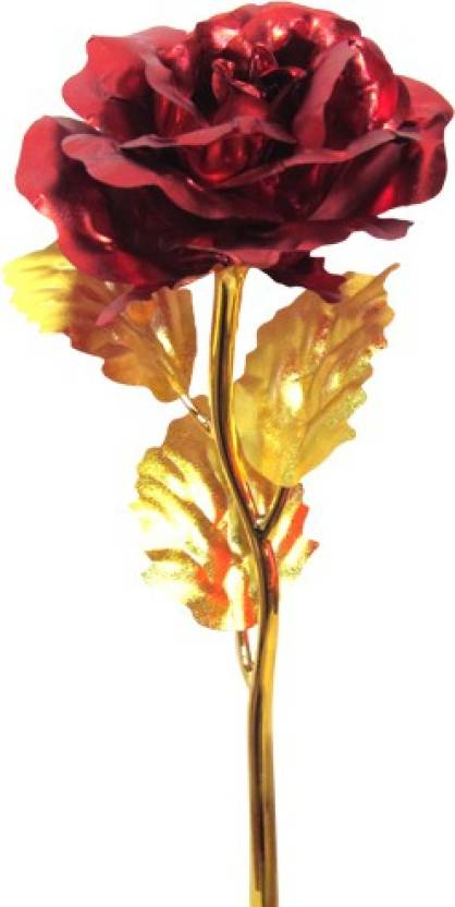 Homesogood 24k red gold rose with gift box artificial flower gift homesogood 24k red gold rose with gift box artificial flower gift set negle Choice Image