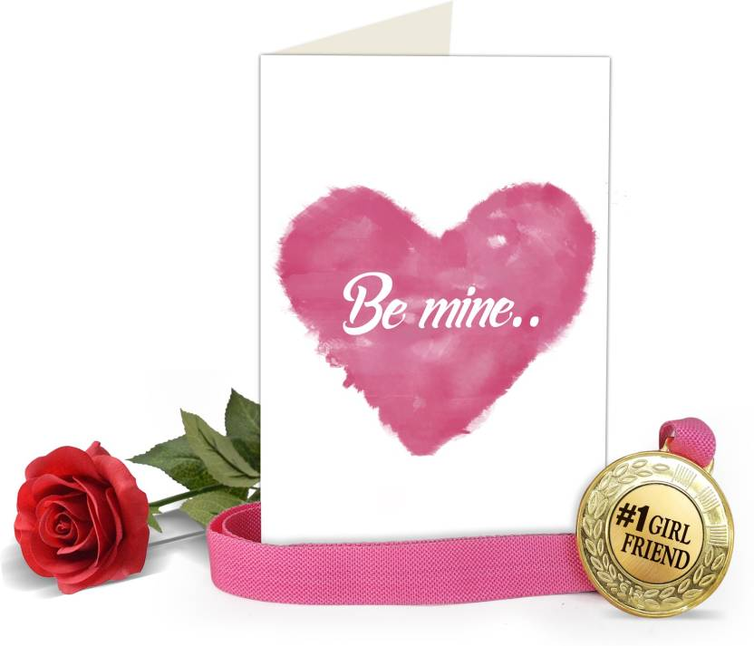 Tiedribbons gifts for girlfriend valentines special greeting card tiedribbons gifts for girlfriend valentines special greeting card with golden medal and red rose greeting card m4hsunfo