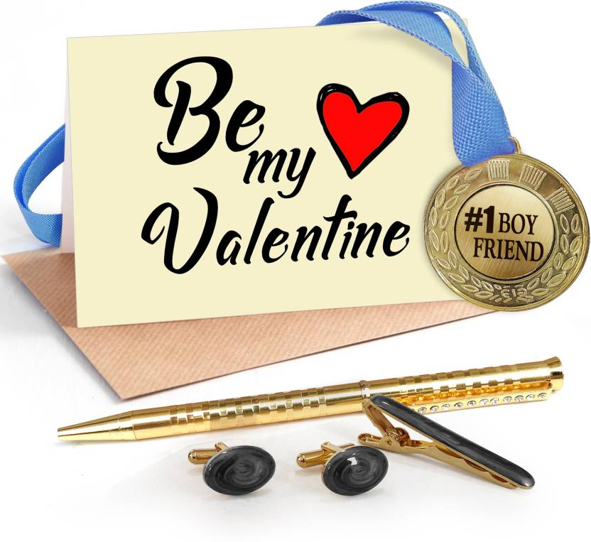 Tiedribbons Valentine Special Gifts For Boyfriend Combo Pack Golden