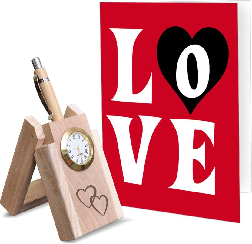 Tied Ribbons Valentine Special Gift For Boyfriend Clock Embedded