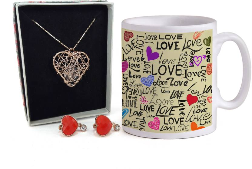 Tiedribbons Valentines Day Special Gifts For Girl Combo Pack Coffee
