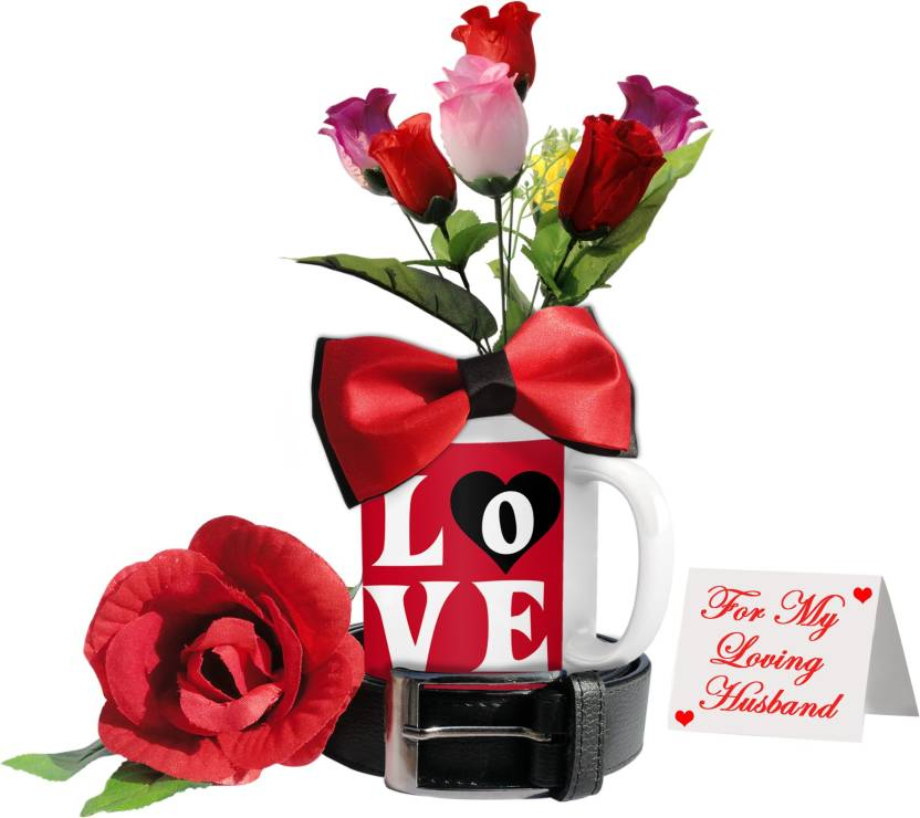 Tiedribbons Valentine S Day Gift Combo With Flowers For Caring