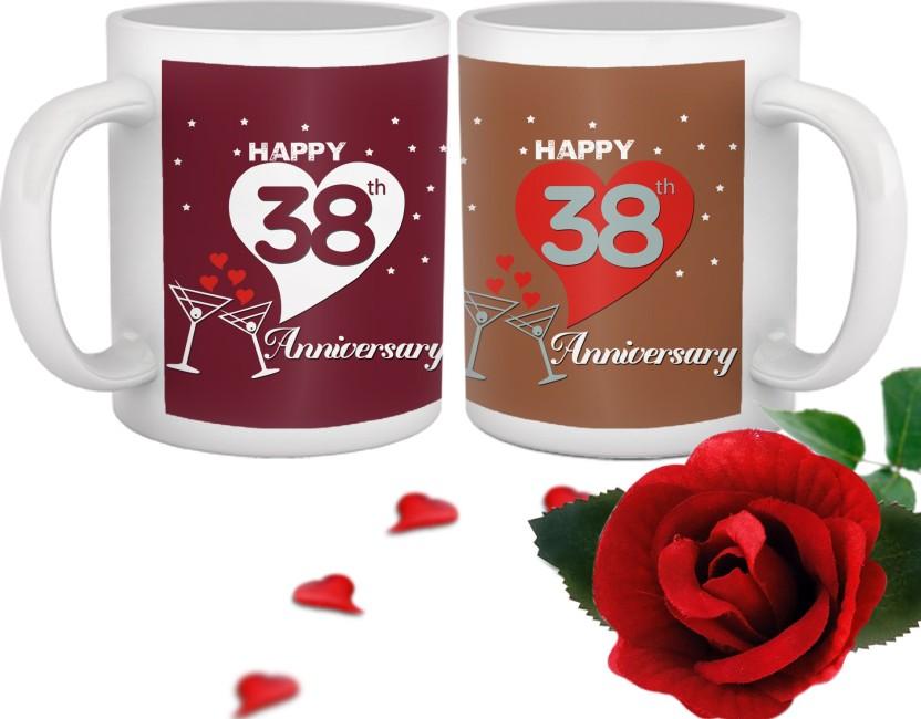 Tied Ribbons Mug Gift Set  sc 1 st  Flipkart & Tied Ribbons 38th Marriage Anniversary Mug Gift Set Price in India ...