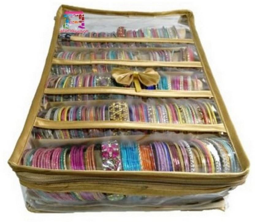 Atorakushon 5 Rods Bangle box Jewellery Organiser Pouches Storage Case Vanity Box  sc 1 st  Flipkart & Atorakushon 5 Rods Bangle box Jewellery Organiser Pouches Storage ...