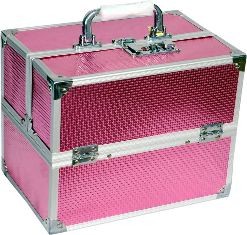 Bonanza Pretty trays Makeup box Vanity Box (Pink)